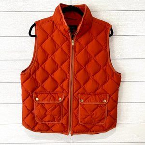 J. Crew Excursion quilted down vest Womens Size XL